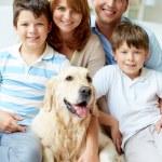 Friendly family — Stock Photo