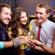 Friends toasting with champagne — Stock Photo #38917797