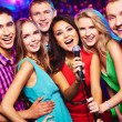 Guys singing in microphone — Stock Photo