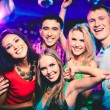 Cheerful friends at party — Foto de Stock
