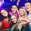 Cheerful friends at party — Foto Stock