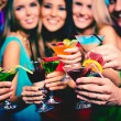 Friends with cocktails — Stock Photo #38918139