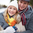 Stock Photo: Couple in winterwear