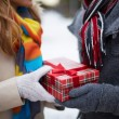 Stock Photo: Christmas present
