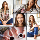 Girl in casual — Stock Photo