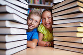 Kids and books — Stock Photo