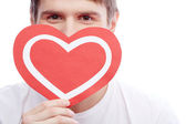 Guy with heart — Stock Photo