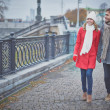 Stock Photo: Couple walking in city
