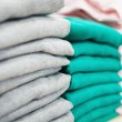 Stacks of clothes — Stock Photo