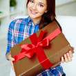 Stock Photo: Girl with gift