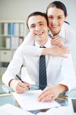 Successful managers — Stock Photo