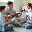 Musical family — Stock Photo