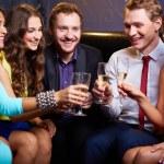 Friends toasting — Stock Photo
