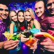Friends with cocktails — Stock Photo #40668411