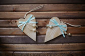 Wooden hearts — Stock Photo