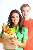 Couple of vegetarians — Stock Photo