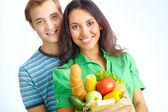 Healthy eaters — Stock Photo