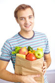 Healthy food eater — Stock Photo