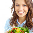 Female with salad — Stock Photo
