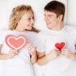 Hearty lovers — Stock Photo #40671927