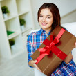 Girl with gift — Stock Photo #40674839