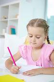 Dziewczynka rysunek — Zdjęcie stockowe