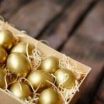 Golden eggs — Stock Photo