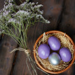 Flowers and eggs — Stock Photo