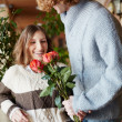 Romantic surprise — Stock Photo