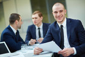 Businessman at workplace — Stock Photo