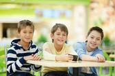 Three schoolboys — Stock Photo