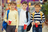 Modern schoolboys — Stock Photo