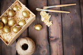 Easter in gold — Stock Photo
