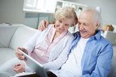 Modern grandparents — Stock Photo