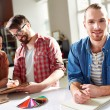 Smiling guy with pencil — Stock Photo #46262411