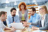 Business partners discussing ideas — Stock Photo