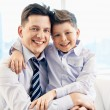 Father and his son embracing — Stock Photo