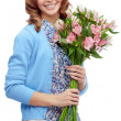 Girl with bouquet — Stock Photo #46274985