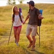 Couple of hikers — Stock Photo #46276359