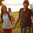 Couple of hikers — Stock Photo