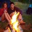 Young couple looking at fire — Stock Photo #46276571