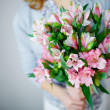 Bunch of pink lilies — Stock Photo #46276853