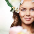 Spring young woman — Stock Photo