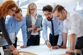 Business team developing plan — Stock Photo