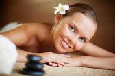 Female  enjoying spa — Stock Photo