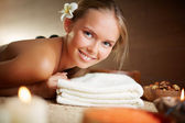 Girl  in spa salon — Stock Photo