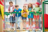 Kids on playground — Stock Photo
