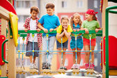 Kids on playground — Stock Photo