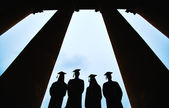 Graduates outlines — Stock Photo