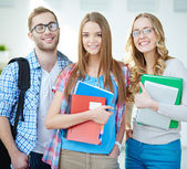 Clever students — Stock Photo